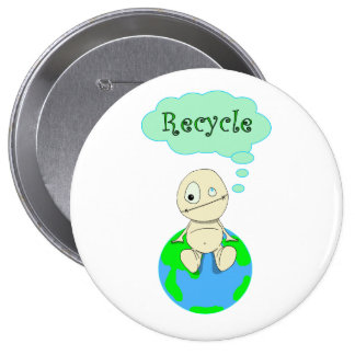 Think...Recycle 10 Cm Round Badge
