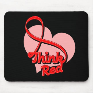 Think RED AIDS Mouse Pad