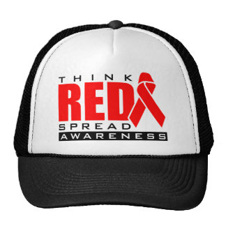 Think Red.... Spread Awareness Cap
