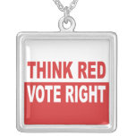 Think Red Vote Right Pendants