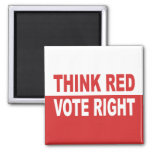 Think Red Vote Right Refrigerator Magnet