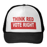 Think Red Vote Right Trucker Hats