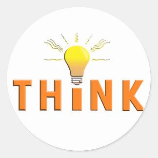 Think Round Sticker