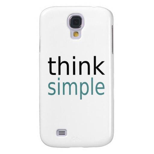 Think Simple Samsung Galaxy S4 Case
