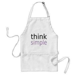 Think Simple (purple edition) Aprons