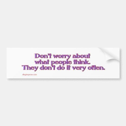 think_slap bumper sticker
