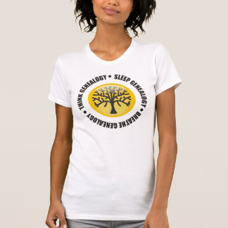Think Sleep Breathe Genealogy T-Shirt