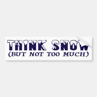 Think Snow Bumper Stickers