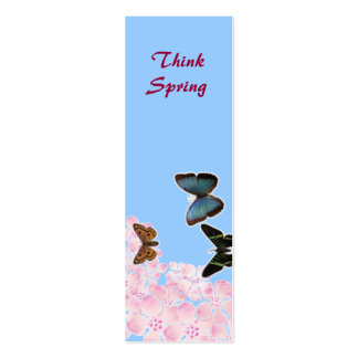 Think Spring Bookmark Pack Of Skinny Business Cards