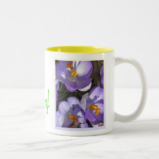 Think Spring Crocus mug