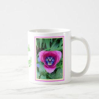 Think Spring Tulip mug