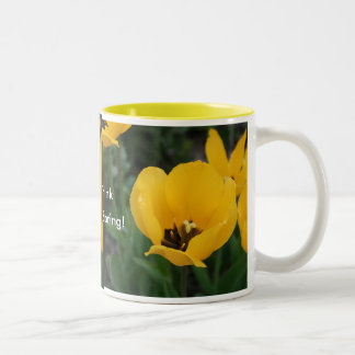 Think, Spring! Two-Tone Coffee Mug