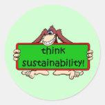 think sustainability sticker