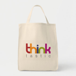 think tastic organic tote bag