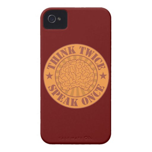 Think twice, speak once iPhone 4 cover