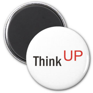 think up alexander technique slogan 6 cm round magnet