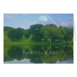 Think Well Be Well Greeting Card