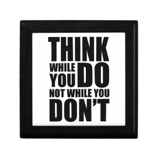Think while you DO Small Square Gift Box
