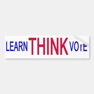 Think (white) bumper sticker