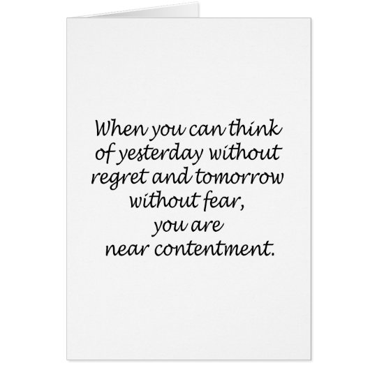 Think Without Regret And Fear Card
