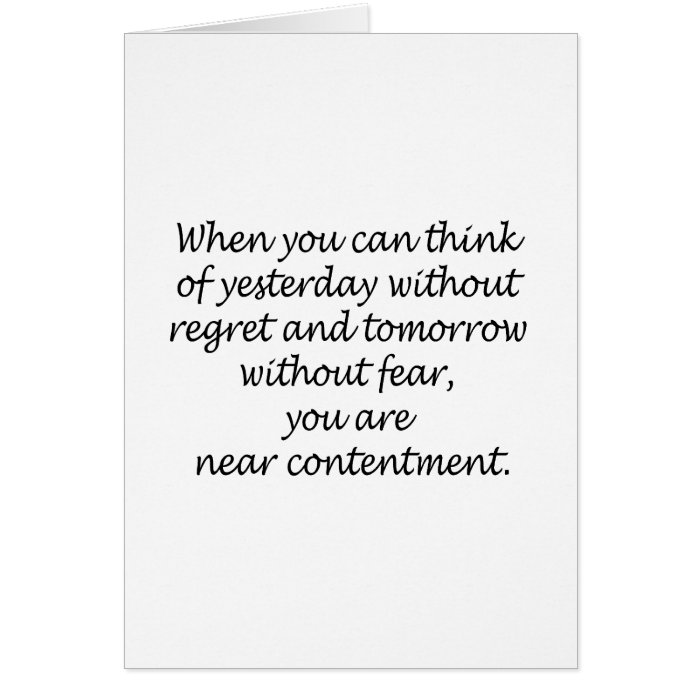 Think Without Regret And Fear Greeting Card