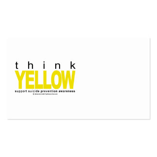 Think YELLOW Suicide Prevention Pack Of Standard Business Cards