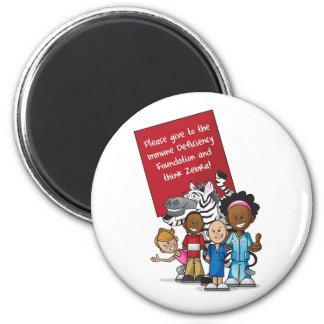 Think Zebra 2011 6 Cm Round Magnet