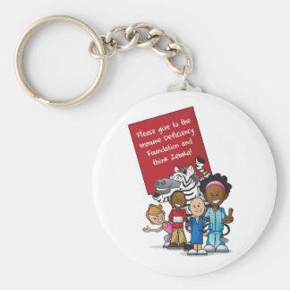 Think Zebra 2011 Basic Round Button Key Ring