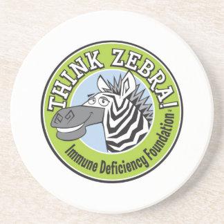 Think Zebra Coaster