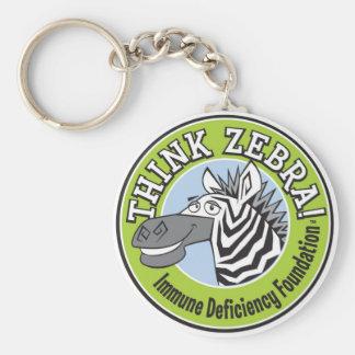 THINK ZEBRA Key Chain