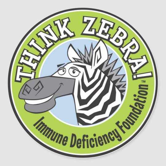 THINK ZEBRA STICKERS