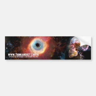 ThinkandAct.Earth Main Logo Bumper Sticker