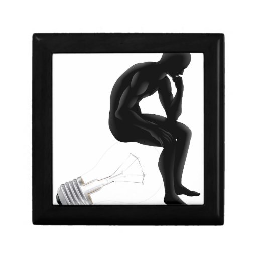 Thinker looking for an idea jewelry box