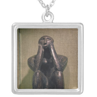 Thinker of Cernovoda, Hamangia Culture Silver Plated Necklace