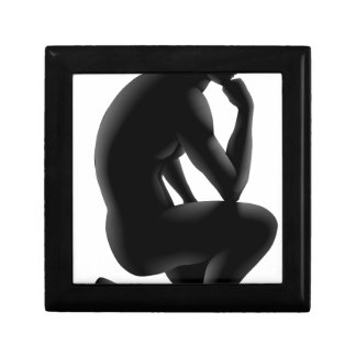 Thinker silhouette concept jewelry boxes