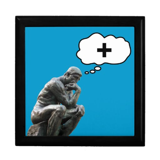 Thinker Statue - Think Positive Gift Box