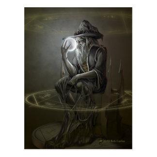 Thinker Wizard Postcard