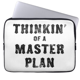 Thinkin' of a Master Plan Laptop Sleeves