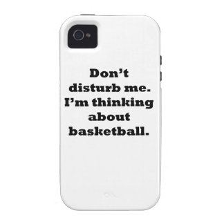 Thinking About Basketball iPhone 4 Case