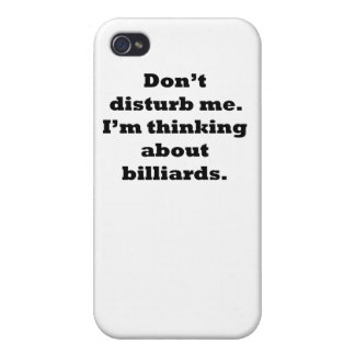 Thinking About Billiards iPhone 4 Cover