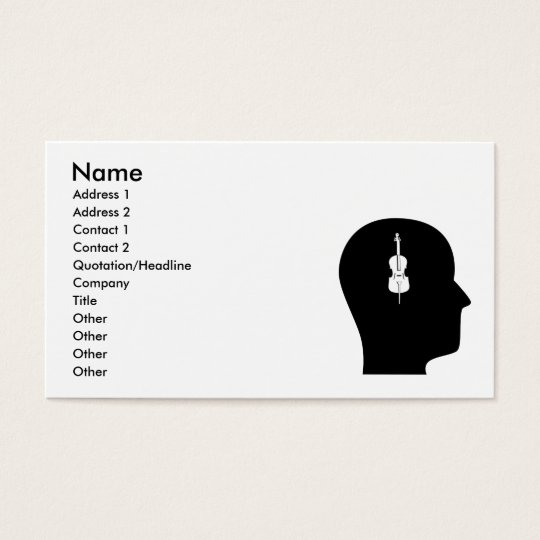 Thinking About Cello Business Card