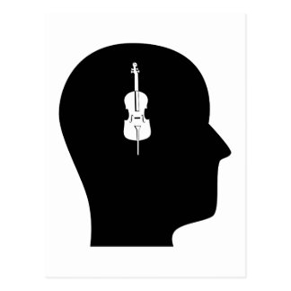 Thinking About Cello Postcard