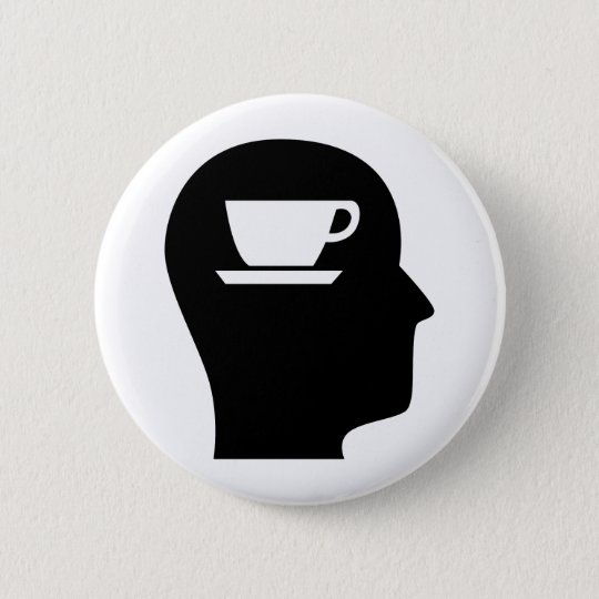 Thinking About Coffee 6 Cm Round Badge