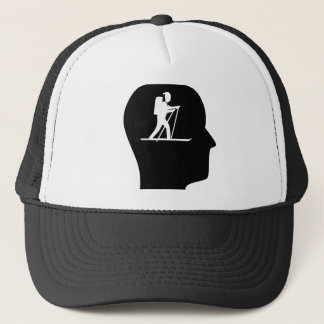 Thinking About Cross Country Skiing Trucker Hat