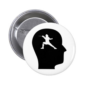 Thinking About Fencing 6 Cm Round Badge