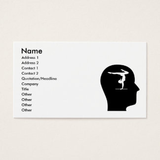 Thinking About Gymnastics Business Card