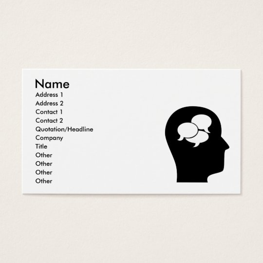 Thinking About Interpreting Business Card