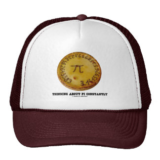 Thinking About Pi Constantly Pi Pie Math Humor Trucker Hat