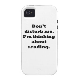 Thinking About Reading iPhone4 Case