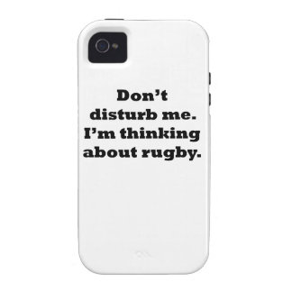 Thinking About Rugby Vibe iPhone 4 Cases